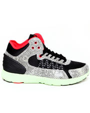 Sneakers - Owen Mid Snakeskin Embossed Leather/Black Mesh Sneakers