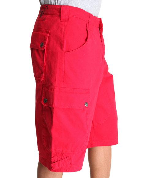 Pelle Pelle Men Red Pelle Classic Cargo Shorts