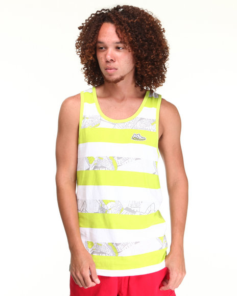 - HORSE STRIPE TANK TOP