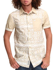 Men - Tribal Print S/S Button-down