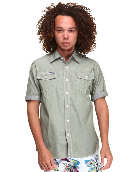 - CLARK SHORT SLEEVE CHAMBRAY SHIRT