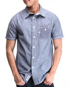 Parish - Solid Chambray S/S Button-down