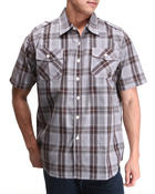 Button-downs - Brillyant S/S Plaid Button Down Shirt