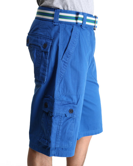 A Tiziano Men Blue Fixx Cargo Shorts