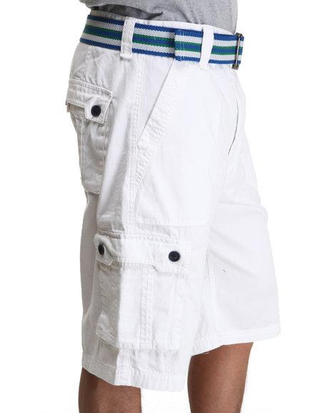 A Tiziano Men White Fixx Cargo Shorts