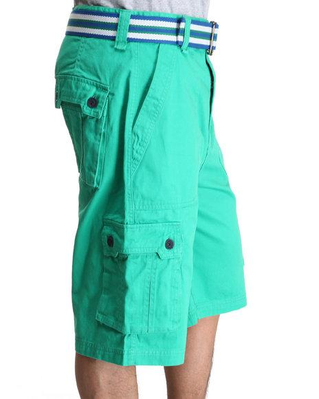 A Tiziano Men Green Fixx Cargo Shorts