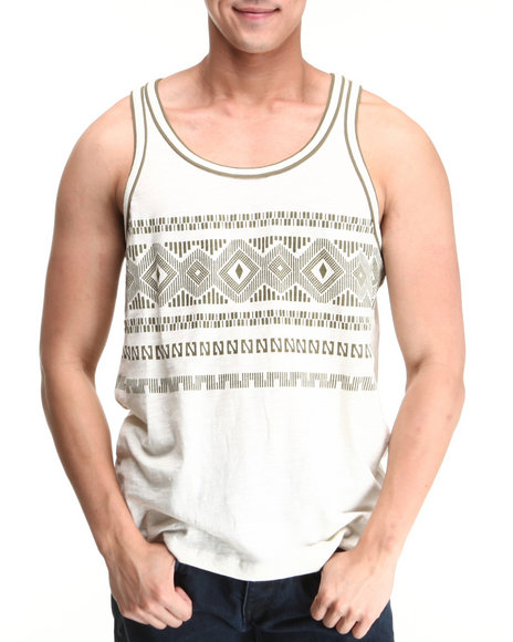 Parish Khaki Tribal Tank