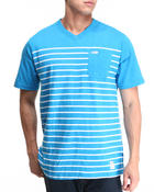 Parish - Stripe V-Neck Tee