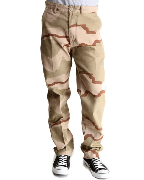 Rothco Camo,Tan Tri Desert Camo 4 Pocket Slim Fit Chino Pants