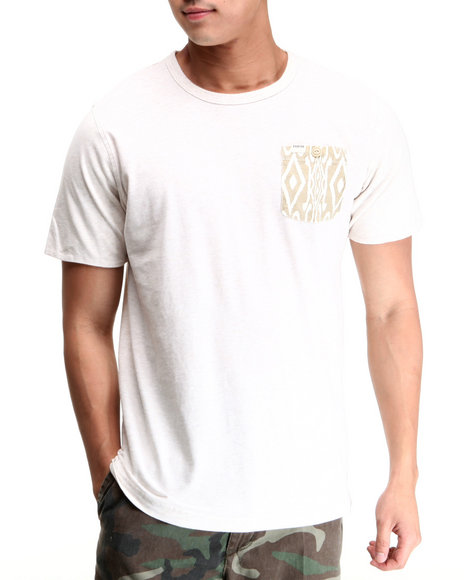 Parish Khaki Tribal Pocket Tee