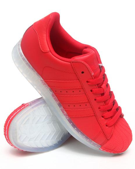 Adidas Men Red Superstar Clr Sneakers