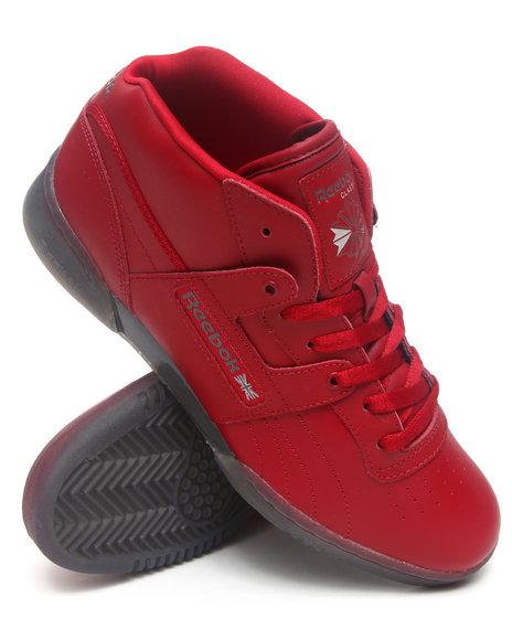Reebok Men Red Workout Mid Ice Bottom Sneakers