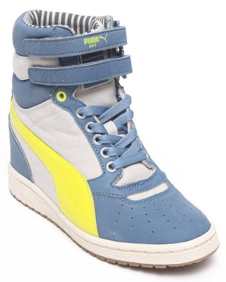 Puma Women Blue Sky Wedge Sneakers