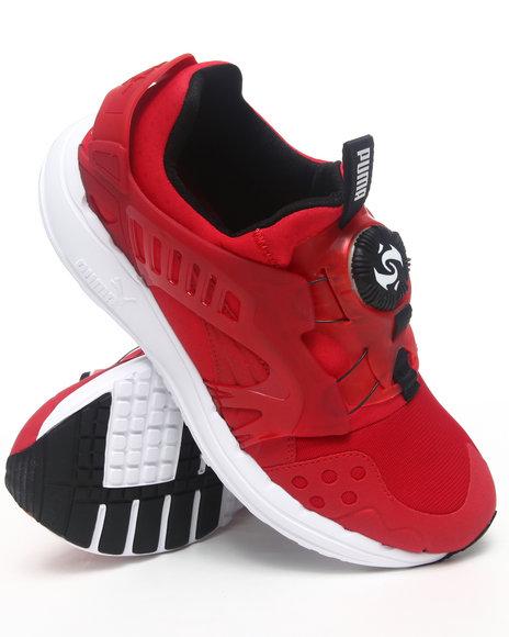 Puma Men Red Future Disc Blaze Lite Sneakers