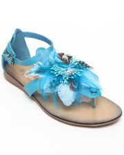 Women - Feather Trim Sandal