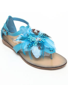 Apple Bottoms - Feather Trim Sandal