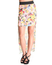 Fashion Lab - The Marla Chiffon Floral Hi-Lo Skirt