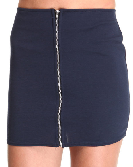 Fashion Lab - Women Navy The Beverly Hills Zip Up Skirt