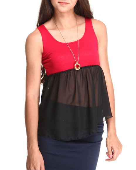 Fashion Lab Women The Color Blocked Tank Top Black XLarge