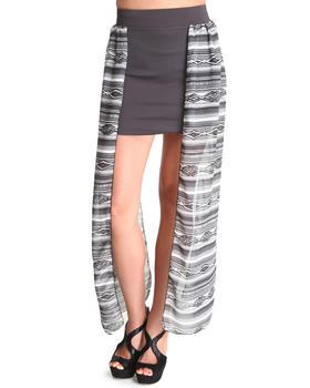 Fashion Lab - Amazon Chiffon Panel Skirt