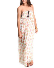 Summer Shop- Women - Sophia Strapless Floral Maxi Dress