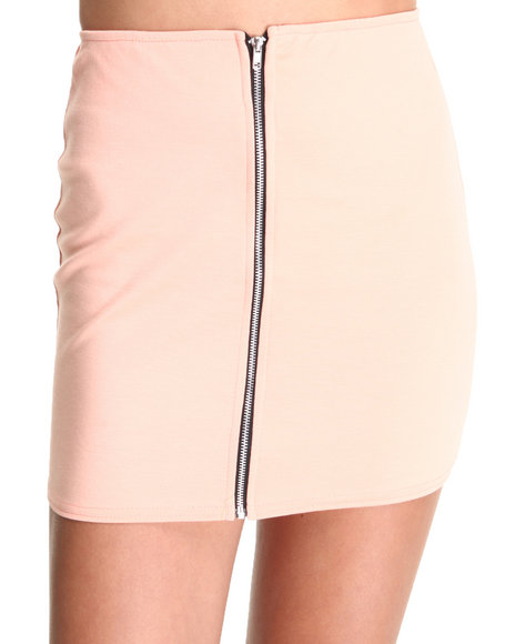 Fashion Lab - Women Pink The Beverly Hills Zip Up Skirt