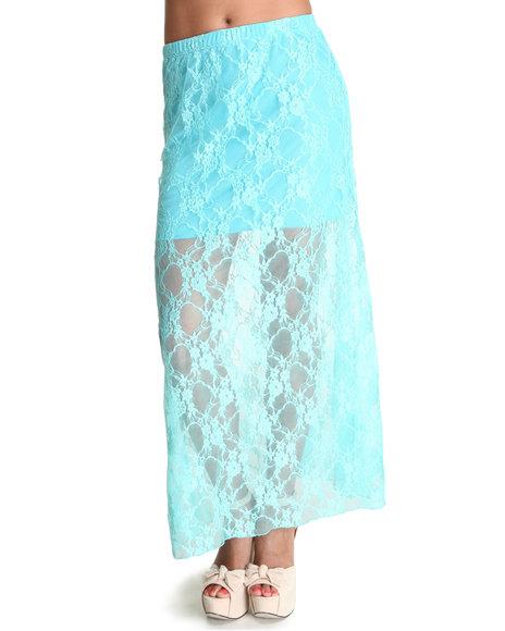 Fashion Lab Blue Floral Maxi Skirt