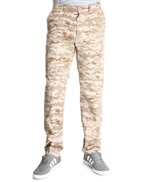 Rothco - Men Camo Smokey Branch Camo 4 Pocket Slim Fit Chino Pants