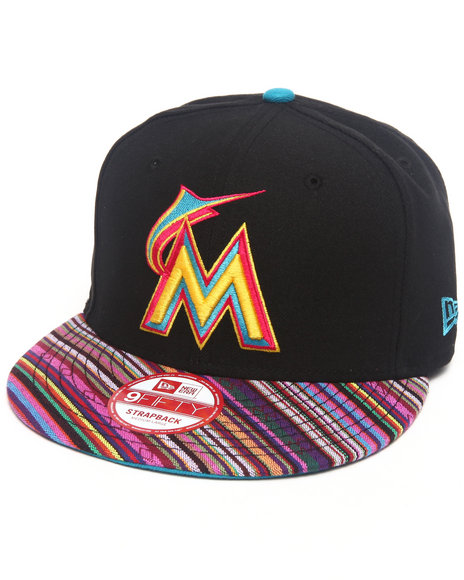 New Era Miami Marlins Trans Traveler Strapback Hat Black