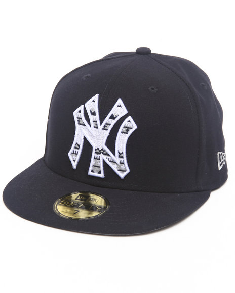 New Era Black New York Yankees Pattern Fill Hat