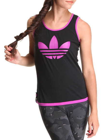 Adidas Women Black,Dark Pink Summer Tank Top