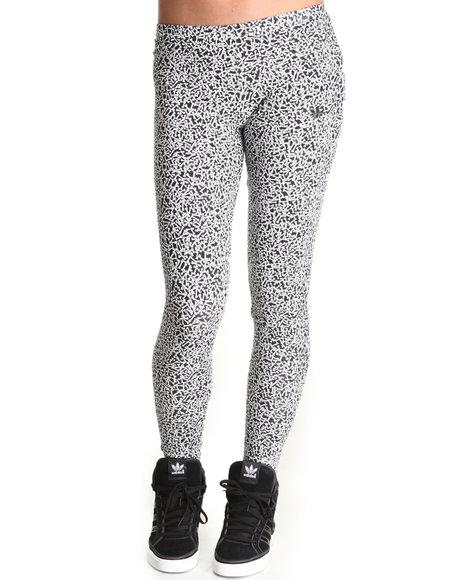Adidas Women Black,Ivory Bone Leggings