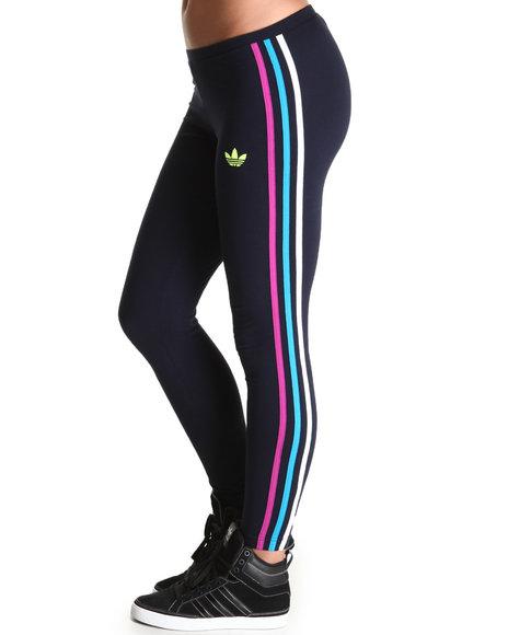Adidas Women Black 3 Stripe Leggings