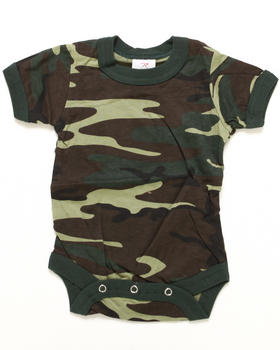 DRJ Army/Navy Shop - Woodland Camo Bodysuit (Infant)
