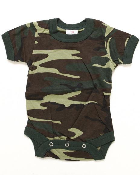 Boys Camo Woodland Camo Bodysuit (Infant)