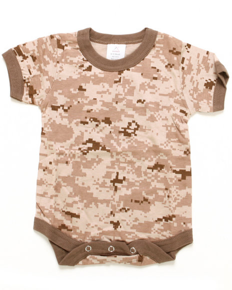 Drj Army/Navy Shop - Boys Camo Desert Digital Camo Bodysuit (Infant)