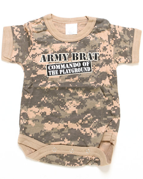 Drj Army/Navy Shop - Boys Camo Army Brat Bodysuit (Infant)