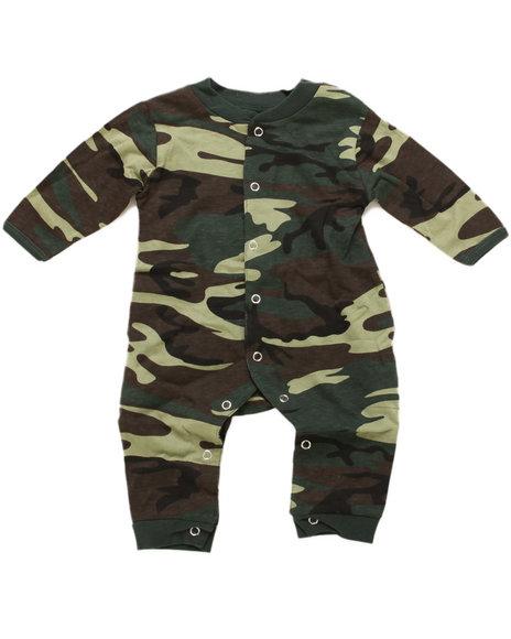 Boys Camo Camo Long Sleeve & Leg 1 Pc Bodysuit (Infant)
