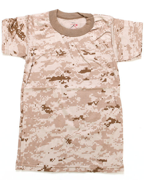 Drj Army/Navy Shop - Boys Camo Desert Digital Camo Tee (8-20)