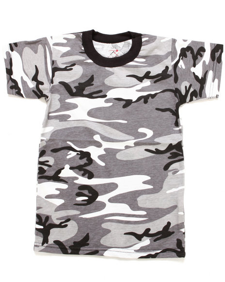 Drj Army/Navy Shop - Boys Black Vintage Camo Tee (8-20)