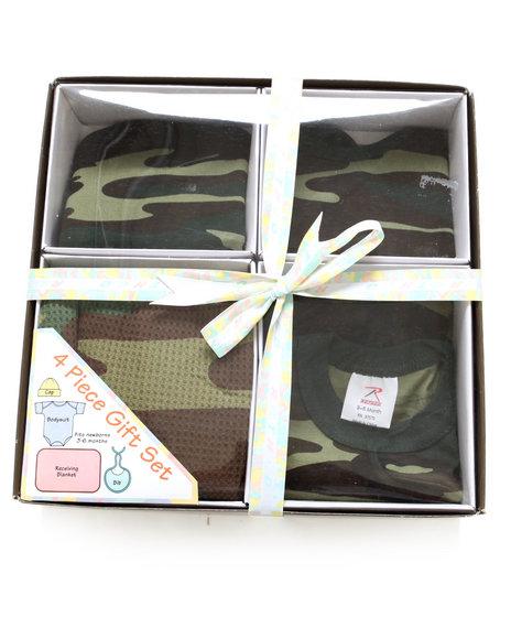 Boys Camo 4-Piece Gift Set (Infant)