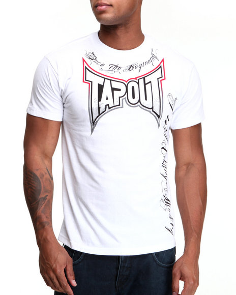 TAPOUT Men White Since The Beginning Tee