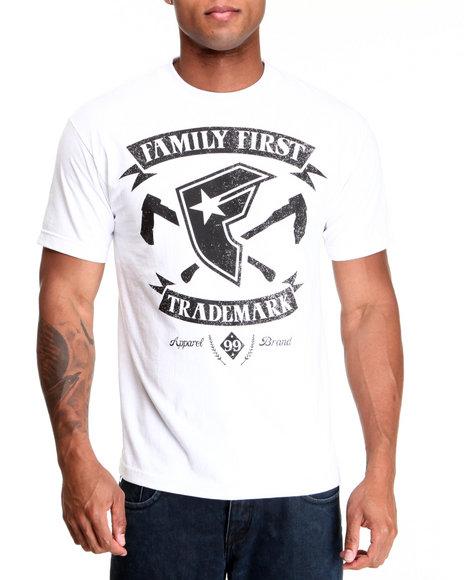 Famous Stars amp Straps Men Family Trademark Tee White XXLarge