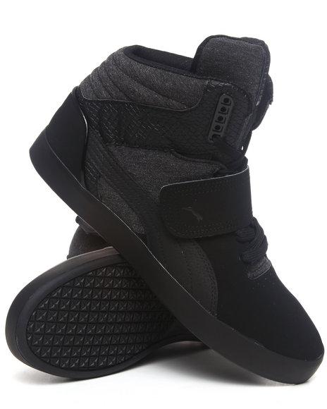 Puma Men Black Suburb Hi Strap Cham Sneakers