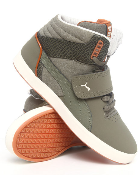 Puma Men Olive Suburb Hi Strap Cham Sneakers