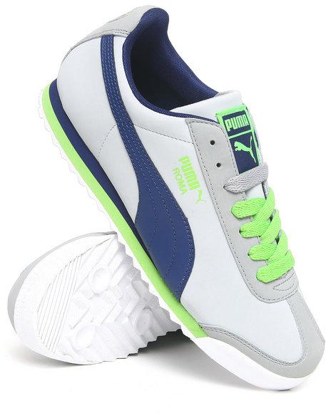 Puma Men Grey Roma Sl Nbk Sneakers