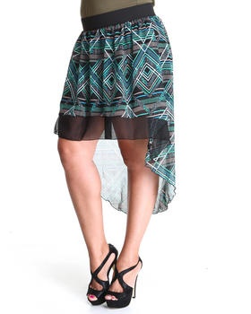 Fashion Lab - The Does It Festive Printed Chiffon Skirt