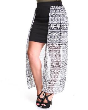 Fashion Lab - Amazon Chiffon Panel Skirt (plus)