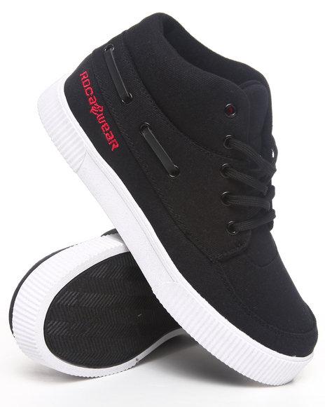 Rocawear Men Black Roc The Boat Sneaker (4-7)