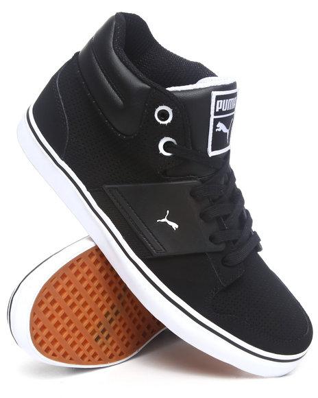 Puma Men Black El Ace 2 Mid Sneakers
